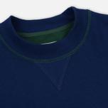 Мужская толстовка Aime Leon Dore Color Blocked Logo Crew Green/White/Navy/Burgundy фото- 1