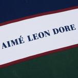 Мужская толстовка Aime Leon Dore Color Blocked Logo Crew Green/White/Navy/Burgundy фото- 2