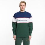 Мужская толстовка Aime Leon Dore Color Blocked Logo Crew Green/White/Navy/Burgundy фото- 4