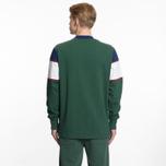 Мужская толстовка Aime Leon Dore Color Blocked Logo Crew Green/White/Navy/Burgundy фото- 5