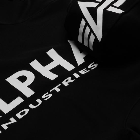 Мужская толстовка Alpha Industries Back Print Hoody Black