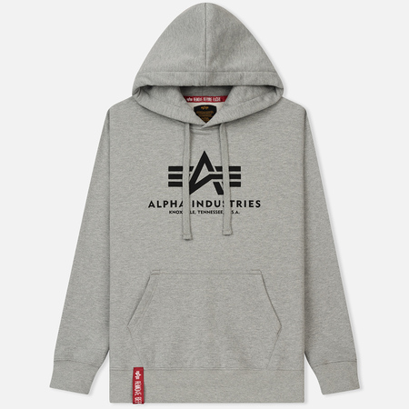 Мужская толстовка Alpha Industries Basic Hoody Grey Heather