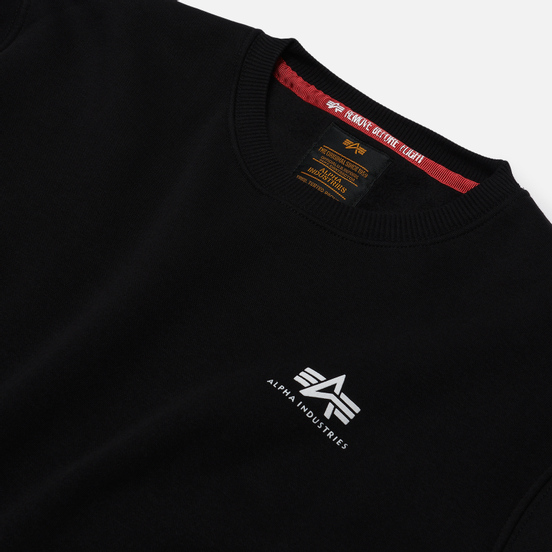 Мужская толстовка Alpha Industries Basic Small Logo Black