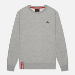 Мужская толстовка Alpha Industries Basic Small Logo Grey Heather