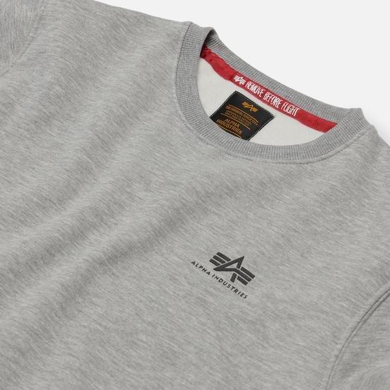 Мужская толстовка Alpha Industries Basic Small Logo Grey Heather