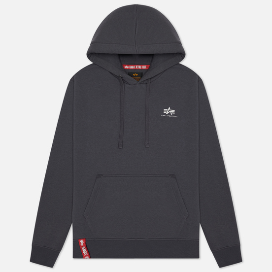 Мужская толстовка Alpha Industries Basic Small Logo Hoody Greyblack