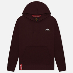 Мужская толстовка Alpha Industries Basic Small Logo Hoody Wine Red