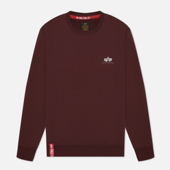 Мужская толстовка Alpha Industries Basic Small Logo Wine Red