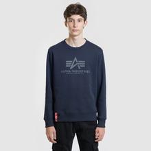 Мужская толстовка Alpha Industries Basic Sweater Replica Blue фото- 1