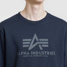 Мужская толстовка Alpha Industries Basic Sweater Replica Blue фото- 2