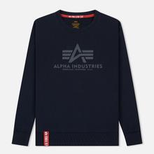 Мужская толстовка Alpha Industries Basic Sweater Replica Blue фото- 0