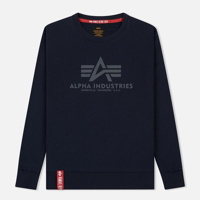 Мужская толстовка Alpha Industries Basic Sweater Replica Blue