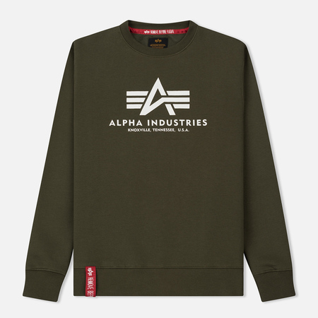 Мужская толстовка Alpha Industries Basic Sweater Dark Green