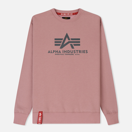 Мужская толстовка Alpha Industries Basic Sweater Silver Pink