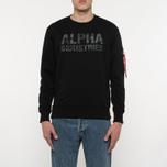 Мужская толстовка Alpha Industries Camo Print Black/Black фото- 5