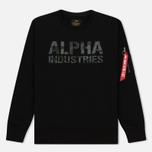 Мужская толстовка Alpha Industries Camo Print Black/Black фото- 0