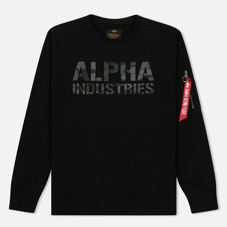 Мужская толстовка Alpha Industries Camo Print Black/Black