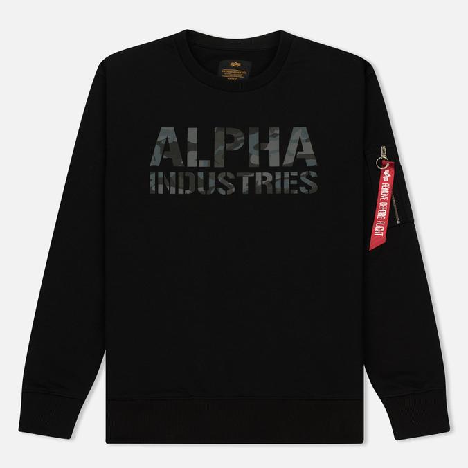 Мужская толстовка Alpha Industries Camo Print Black/Black