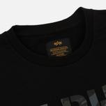 Мужская толстовка Alpha Industries Camo Print Black/Black фото- 1
