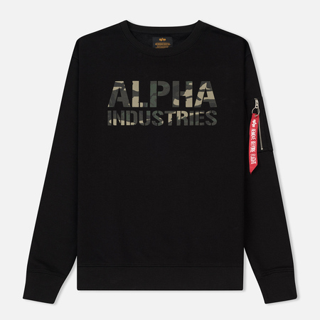 Мужская толстовка Alpha Industries Camo Print Black/Woodland