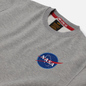 Мужская толстовка Alpha Industries Nasa Space Shuttle Grey Heather фото - 1