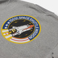 Мужская толстовка Alpha Industries Nasa Space Shuttle Grey Heather фото - 2