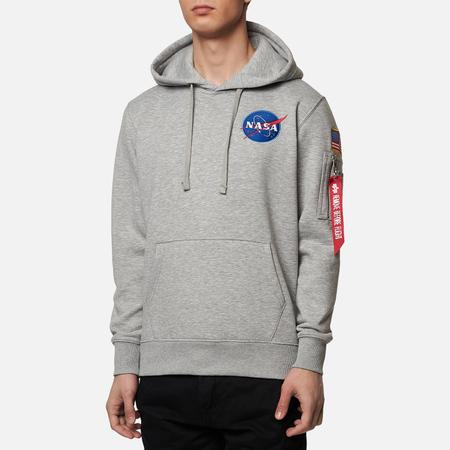 Мужская толстовка Alpha Industries Nasa Space Shuttle Hoody Grey Heather