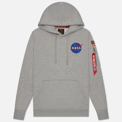 Мужская толстовка Alpha Industries Nasa Space Shuttle Hoody Grey Heather