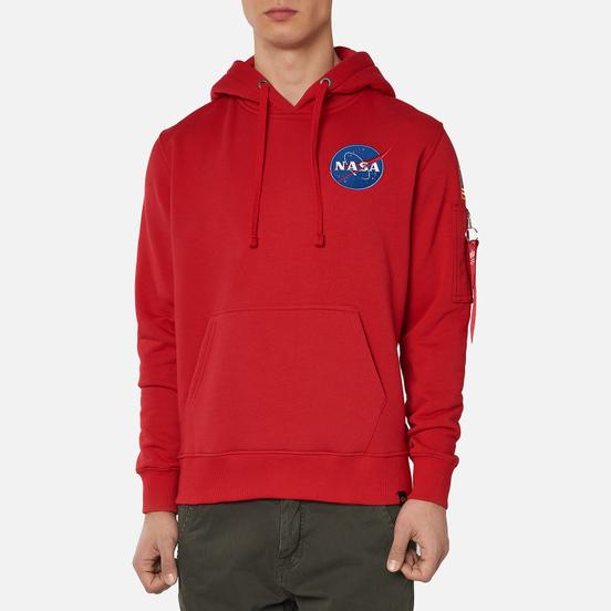 Мужская толстовка Alpha Industries Nasa Space Shuttle Hoody Speed Red