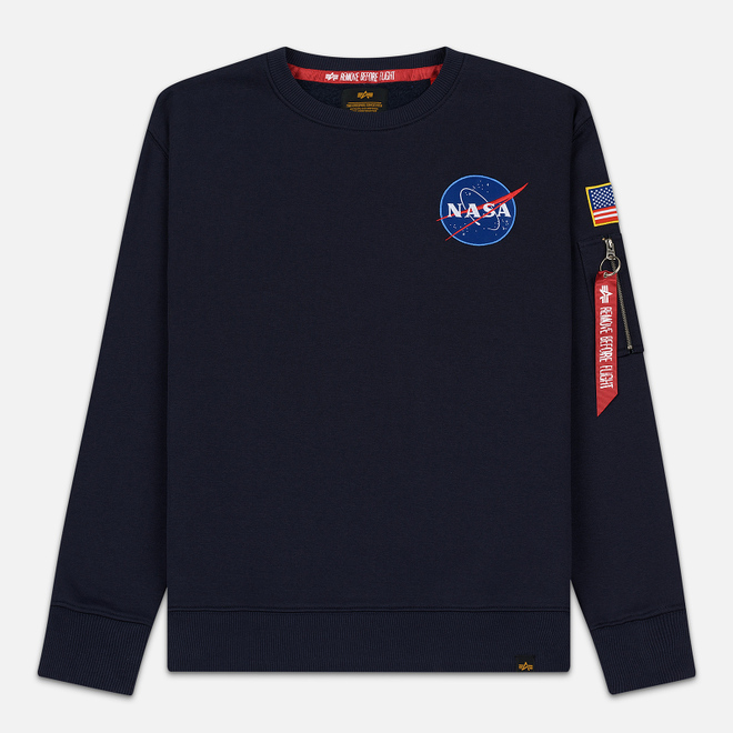 Мужская толстовка Alpha Industries Nasa Space Shuttle Replica Blue