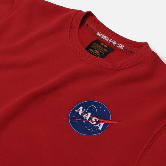 Мужская толстовка Alpha Industries Nasa Space Shuttle Speed Red