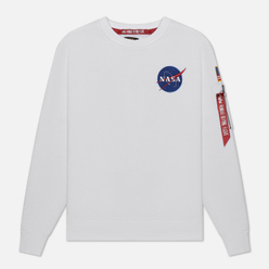 Мужская толстовка Alpha Industries Nasa Space Shuttle White