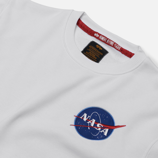 Мужская толстовка Alpha Industries Nasa Space Shuttle White