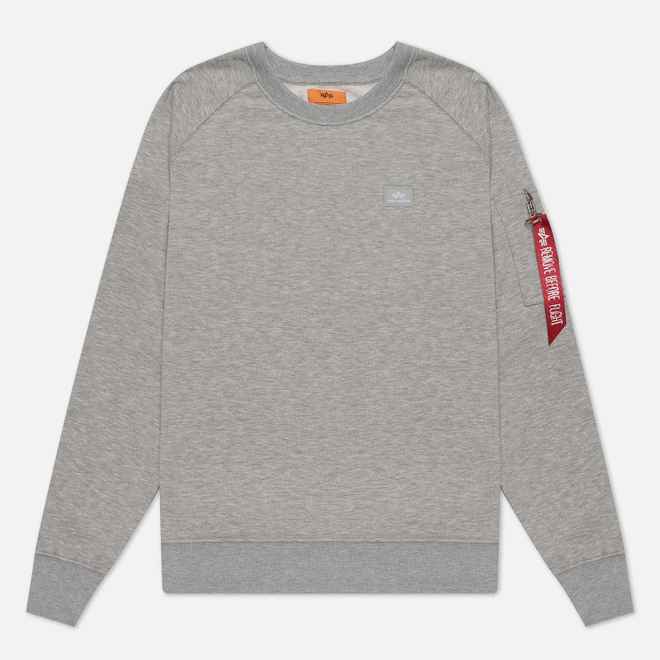 Мужская толстовка Alpha Industries X-Fit Grey Heather