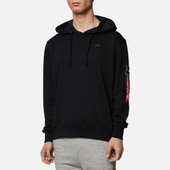 Мужская толстовка Alpha Industries X-Fit Hoody Black