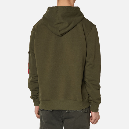 Мужская толстовка Alpha Industries X-Fit Hoody Dark Green