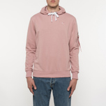 Мужская толстовка Alpha Industries X-Fit Hoody Pink фото- 5