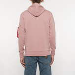 Мужская толстовка Alpha Industries X-Fit Hoody Pink фото- 6