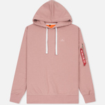 Мужская толстовка Alpha Industries X-Fit Hoody Pink фото- 0