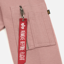 Мужская толстовка Alpha Industries X-Fit Hoody Pink фото- 4