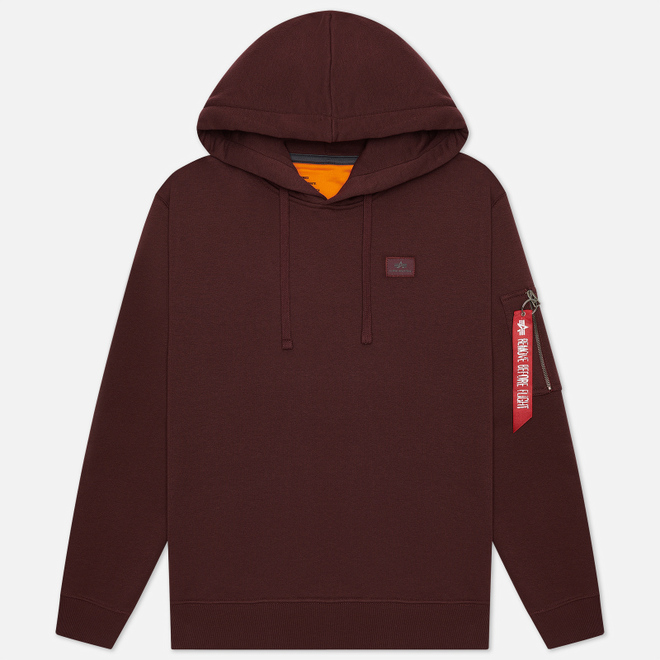 Мужская толстовка Alpha Industries X-Fit Hoody Wine Red