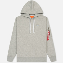 Мужская толстовка Alpha Industries X-Fit Hoody Grey Heather фото- 0