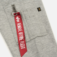 Мужская толстовка Alpha Industries X-Fit Hoody Grey Heather фото- 4