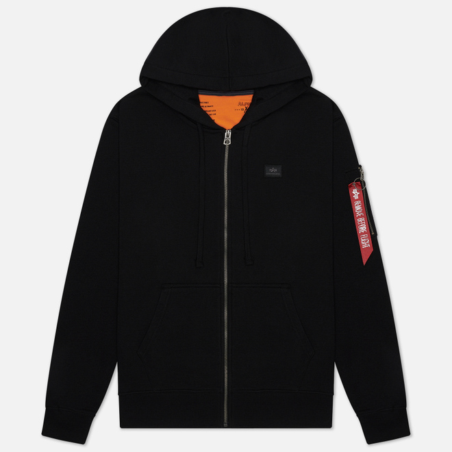 Мужская толстовка Alpha Industries X-Fit Zip Hoody Black