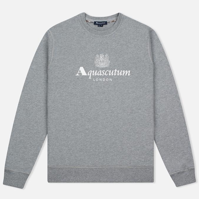 Мужская толстовка Aquascutum Henry Crew Neck Logo Grey Marl
