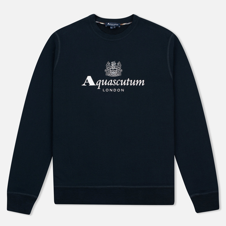 Мужская толстовка Aquascutum Henry Crew Neck Logo Navy