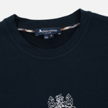 Aquascutum Henry Crew Neck Logo Men's sweatshirt Navy photo- 1