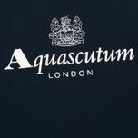 Мужская толстовка Aquascutum Henry Crew Neck Logo Navy фото- 2