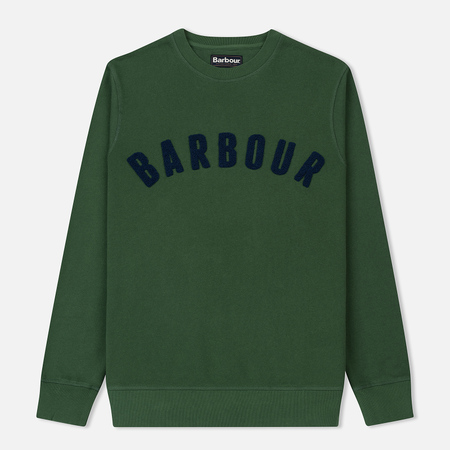 Мужская толстовка Barbour Prep Logo Crew Racing Green