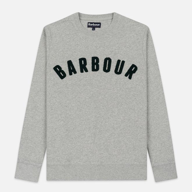 Мужская толстовка Barbour Prep Logo Crew Grey Marl